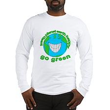 Happy Green Earth Long Sleeve T-Shirt