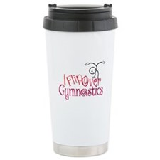 I Flip Over Gymnastics Ceramic Travel Mug
