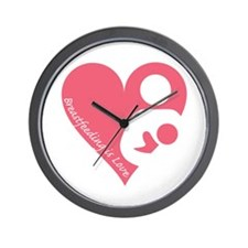 Breastfeeding is Love Wall Clock