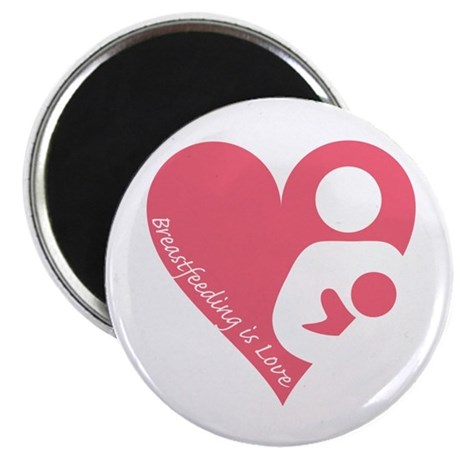 """Breastfeeding is Love"" Magnet"