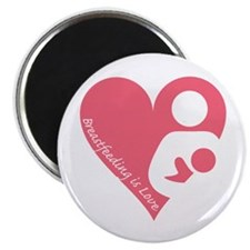 "Breastfeeding is Love 2.25"" Magnet (100 pack)"