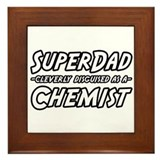 """Super Dad...Chemist"" Framed Tile"