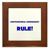 Horticultural Consultants Rule! Framed Tile