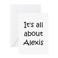 Cute Alexis name Greeting Card
