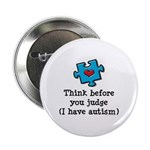 Think Before You Judge Autism Button 10 Pk