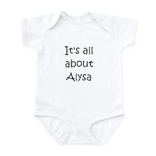 Funny Alysa Onesie