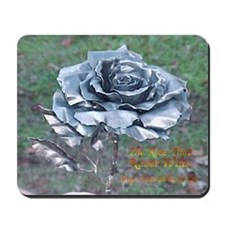Hand-Forged Steel Roses Mousepad