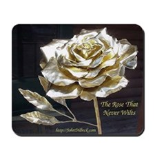 Gold Hand-Forged Roses Mousepad