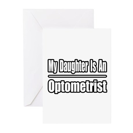"""My Daughter...Optometrist"" Greeting Cards (Pk of"