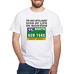 Boston Intelligence White T-Shirt