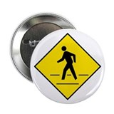 "Pedestrian Crosswalk Sign - 2.25"" Button (100 pack"