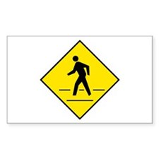 Pedestrian Crosswalk Sign - Rectangle Decal