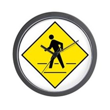 Pedestrian Crosswalk Sign - Wall Clock