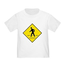 Pedestrian Crosswalk Sign - T