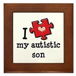 I Love My Autistic Son Framed Tile