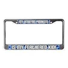 Derbyan Parakeet Feathered Kid License Plate Frame