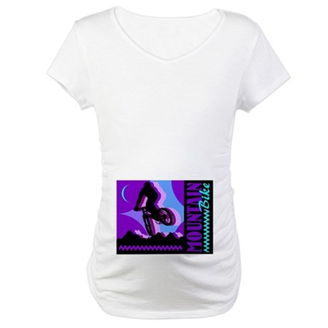 Mountain Bicycle Biking Maternity T-Shirt