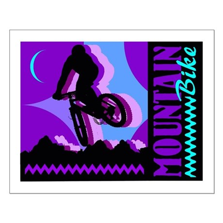 Mountain Bicycle Biking Small Poster