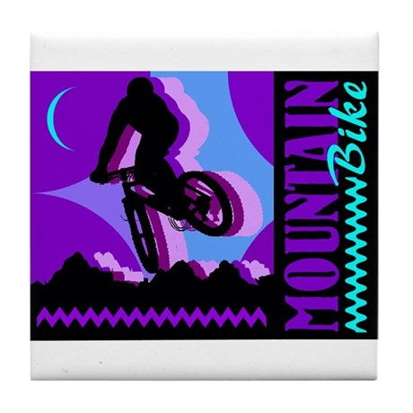 Mountain Bicycle Biking Tile Coaster