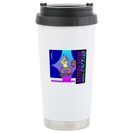 Alternate Energy Skateboard Ceramic Travel Mug