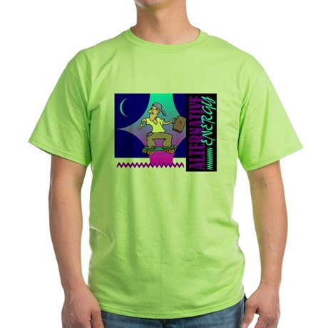 Alternate Energy Skateboard Green T-Shirt