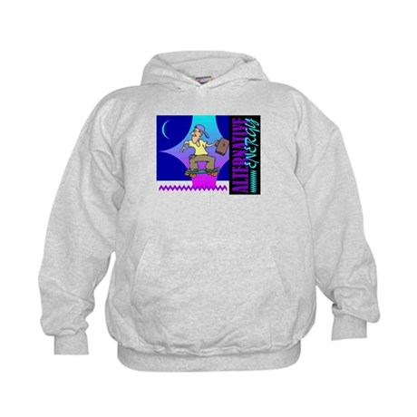 Alternate Energy Skateboard Kids Hoodie