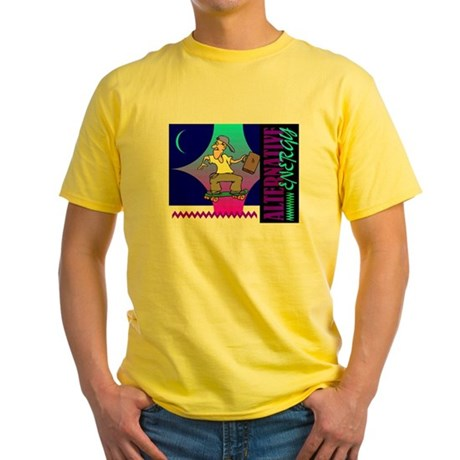 Alternate Energy Skateboard Yellow T-Shirt