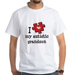 I Love My Autistic Grandson White T-Shirt