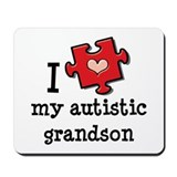 I Love My Autistic Grandson Mousepad