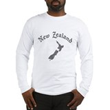 Gothic Vintage New Zealand Long Sleeve T-Shirt