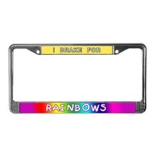 I Brake for Rainbows License Plate Frame