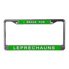 I Brake For Leprechauns License Plate Frame