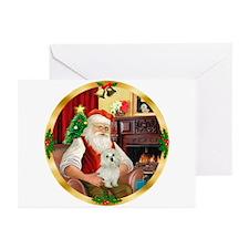 Santa's Maltese 11 Greeting Cards (Pk of 20)