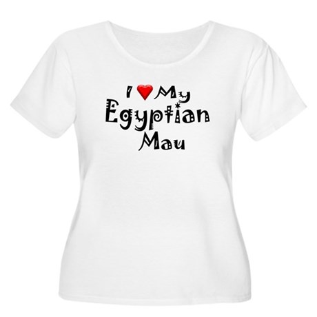 Egyptian Mau Women's Plus Size Scoop Neck T-Shirt
