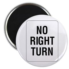 "No Right Turn Sign - 2.25"" Magnet (10 pack)"