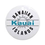 Kauai Hawaii Ornament (Round)