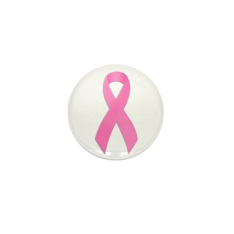 Pink Ribbon Mini Button (100 pack)
