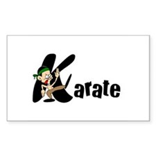 Kids Karate Rectangle Sticker 50 pk)