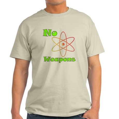 No Nuclear Weapons Light T-Shirt