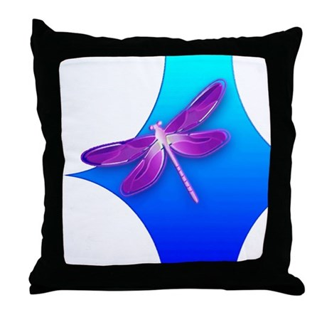 Pretty Dragonfly Throw Pillow