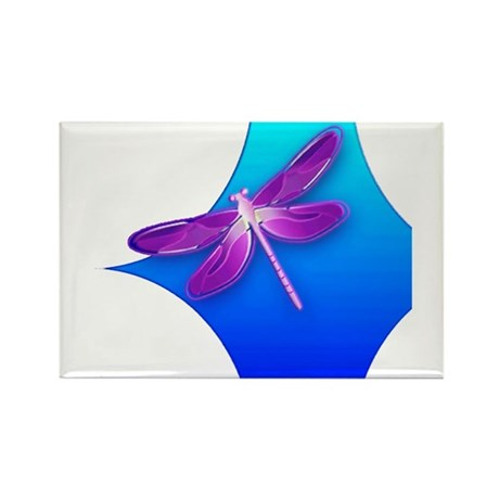 Pretty Dragonfly Rectangle Magnet (100 pack)