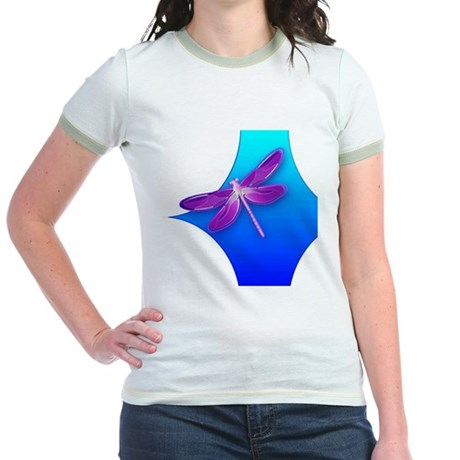 Pretty Dragonfly Jr. Ringer T-Shirt