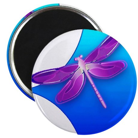 "Pretty Dragonfly 2.25"" Magnet (100 pack)"