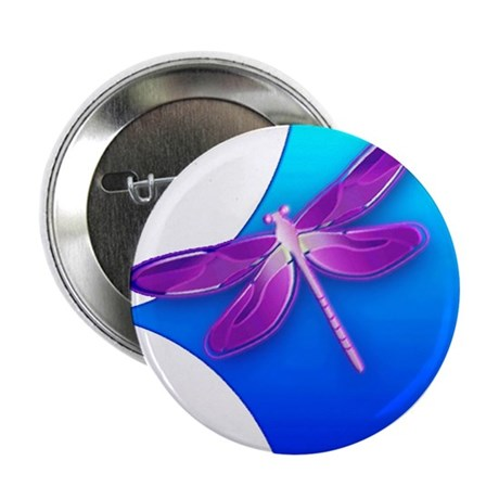 "Pretty Dragonfly 2.25"" Button (10 pack)"