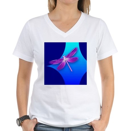 Pretty Dragonfly Women's V-Neck T-Shirt