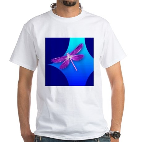 Pretty Dragonfly White T-Shirt