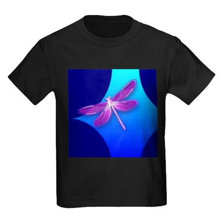 Pretty Dragonfly Kids Dark T-Shirt