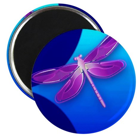 Pretty Dragonfly 2.25&quot; Magnet (100 pack)