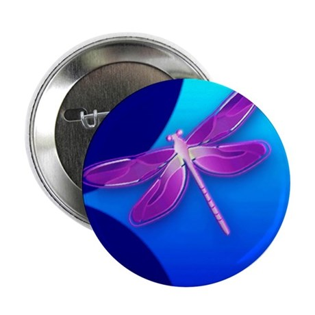 Pretty Dragonfly 2.25&quot; Button (10 pack)