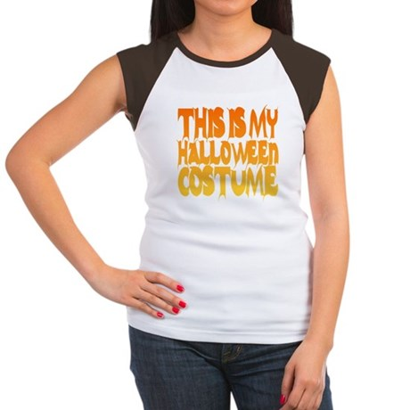 This is My Halloween Costume Womens Cap Sleeve T-